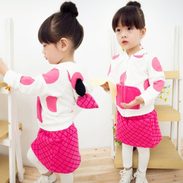 36a4968c467b Sport suit spring summer children s wear girls cute bow dress two-piece  trouser suit 3 4 5 6 7 8 9 10 11 12 13 years baby girl