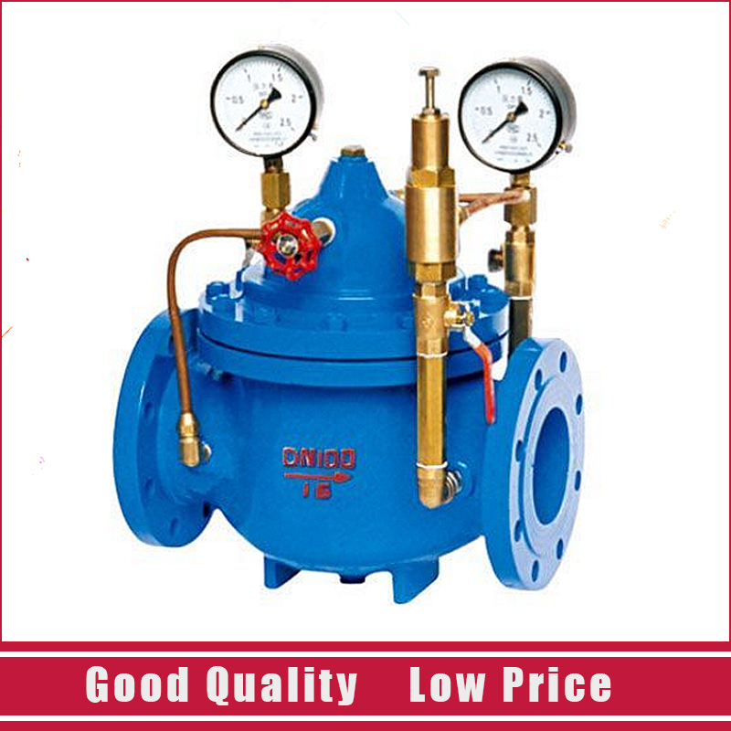 DN40 200X Pilot Operated Relief Valve Cast iron Water Control Valve 1 2 built side inlet floating ball valve automatic water level control valve for water tank f water tank water tower