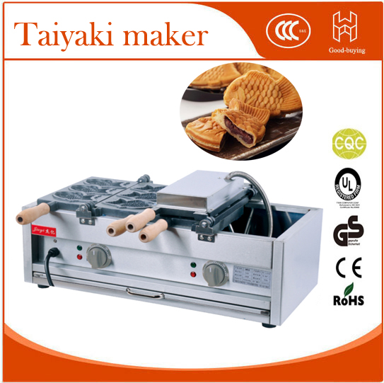 Whosale Electric 6 pieces Japanese Fish Taiyaki Baker  fish stuff donut maker famous snack equipment