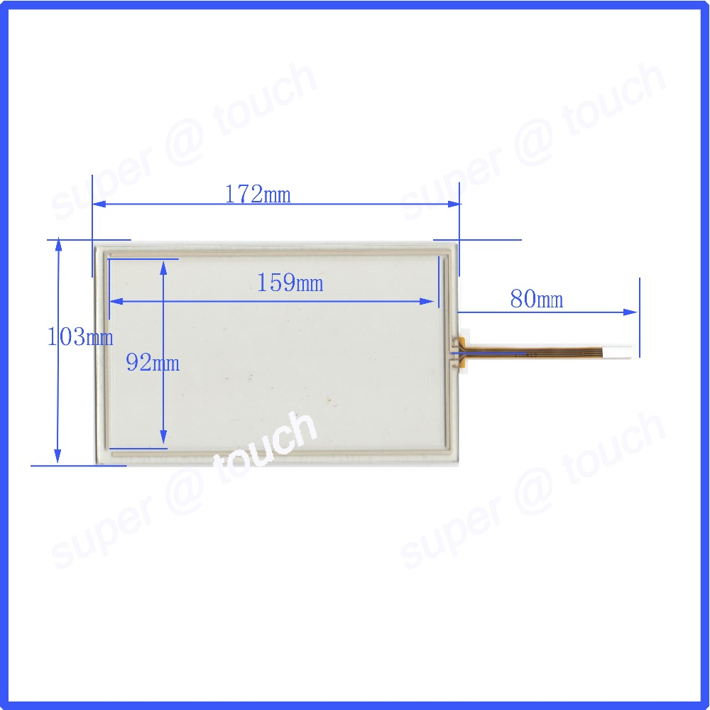 zhiyusun 172mm 105mm 7 inch touch screen 4 wire resistive usb touch panel 172 105 free shipping compatable touchsensor [ 1000 x 1000 Pixel ]