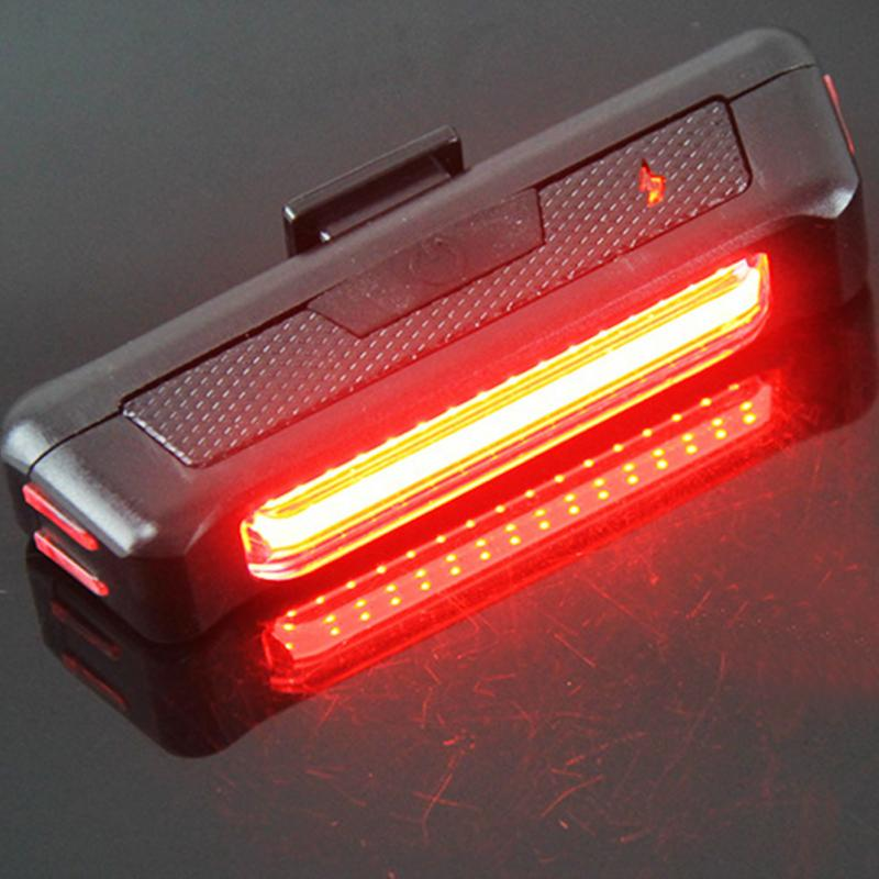 Waterproof bike rear light USB Rechargeable Bicycle Tail Light Ultra bright 6 Modes Red/White LED light Bike Safety flash lamp 5 led 3 mode bicycle bike rear tail lamp light red