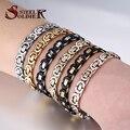 Steel soldier drop shipping Stainless steel Bracelet Men Punk Rock Jewelry Pulseira Masculina Byzantine Chain Link Bracelets