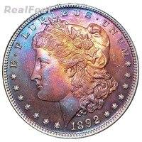 1892 American copy coins 90% high quality liberty Morgan 1 dollar collectible antique silver dollar replica full versions coins