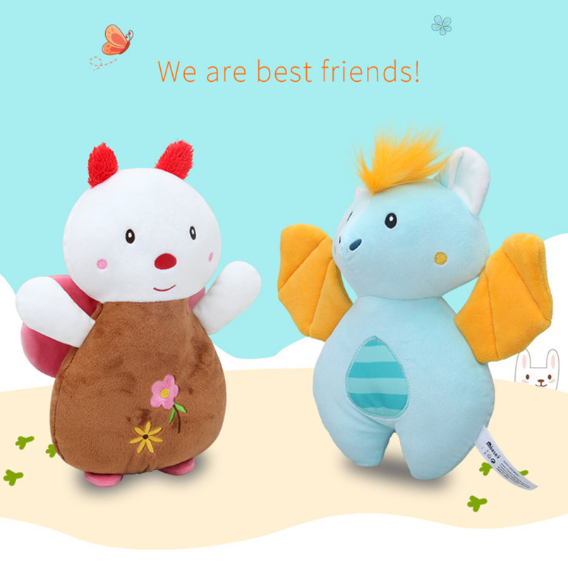 Cute Butterfly&Bat Baby Rattle Mobile To Bed Animal Appease Towel Soft Stroller Toys For Kids