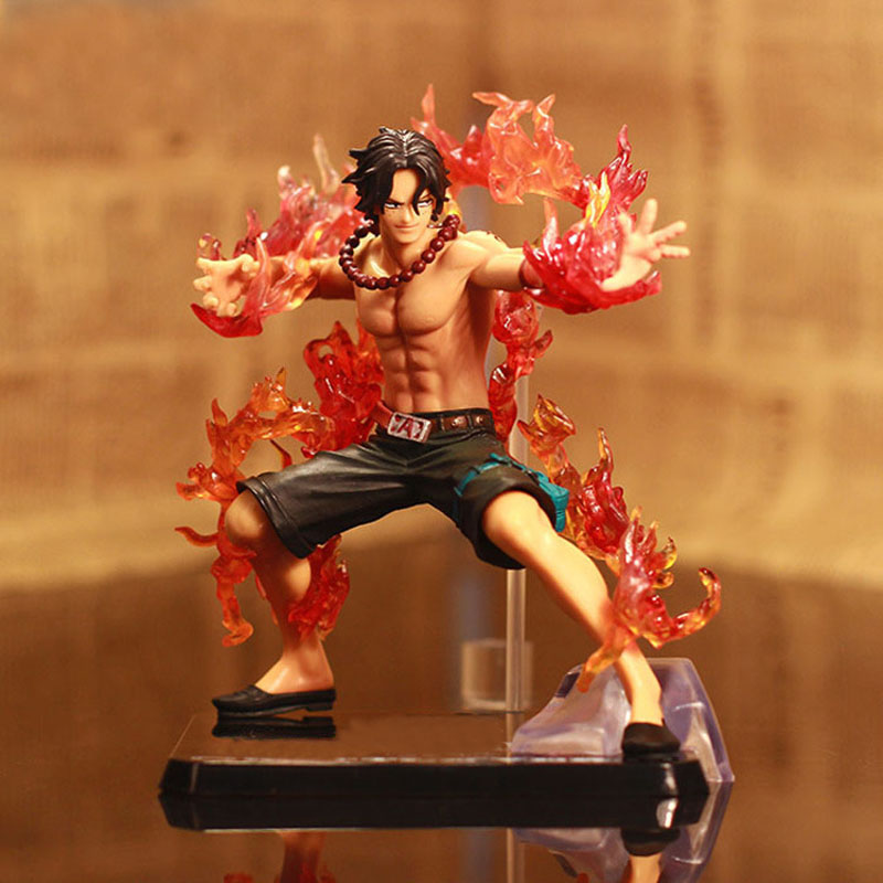 14cm ONE PIECE PVC Action Figure Portgas D Ace Dolls Kids Toy Online Game Collection Doll Heros Figurine RT043