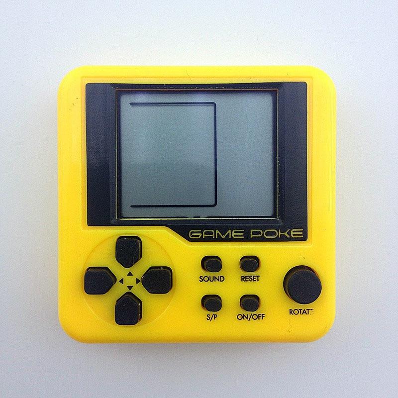 KaRue  Tetris handheld game console Portable Mini game  Children's puzzle Toys Mini Square Handheld Game Player 5PCS