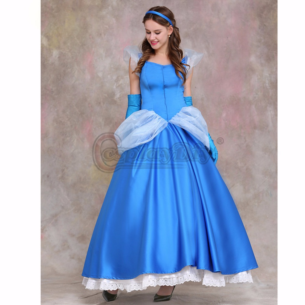 Cosplaydiy Nach Maß Cinderella Halloween Party Kleid Prinzessin ...