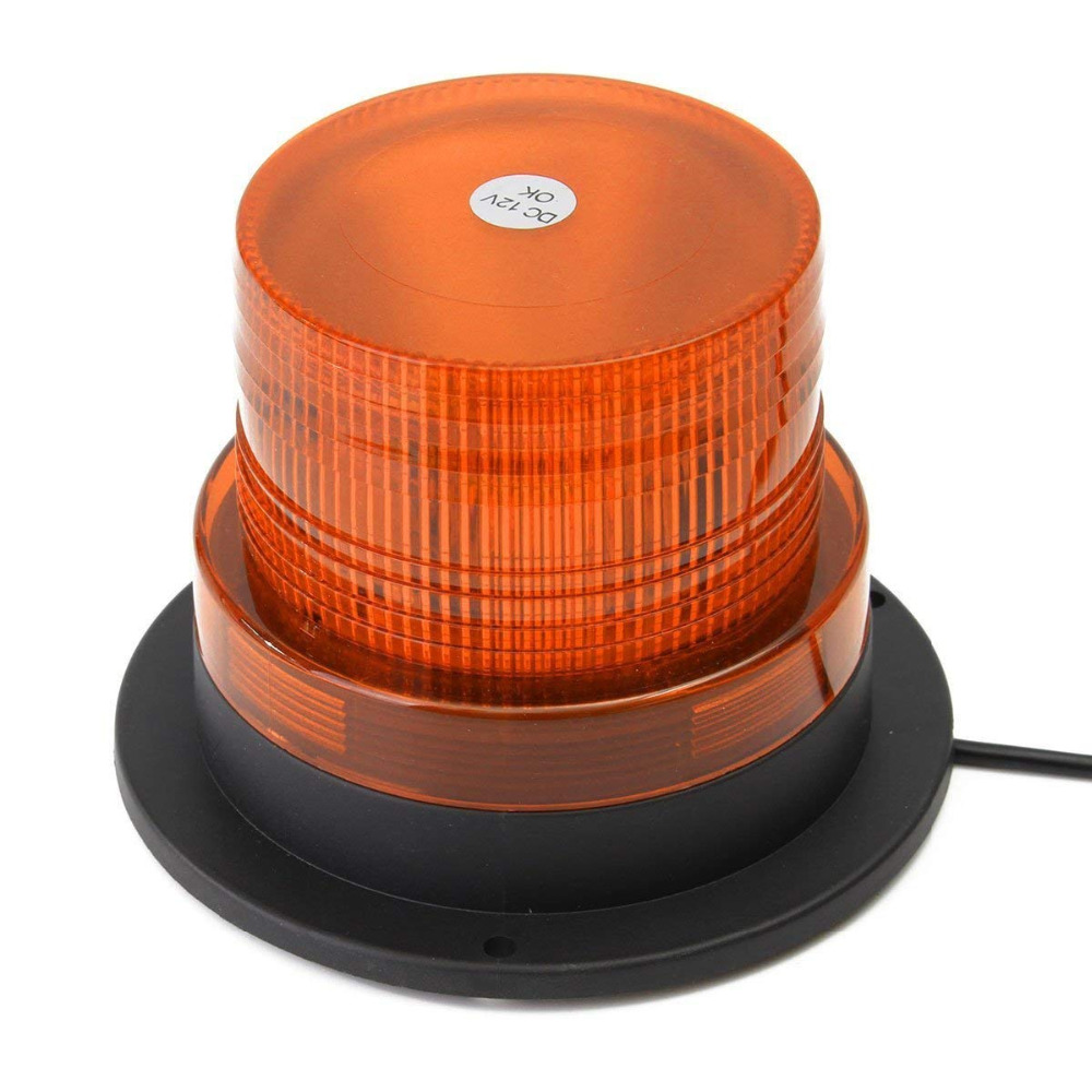 "4"" Inch Dome 12 LED Magnet Mount Construction Vehicle Car Warning Strobe Light Beacon Amber Red Blue Police Flashing Lights"