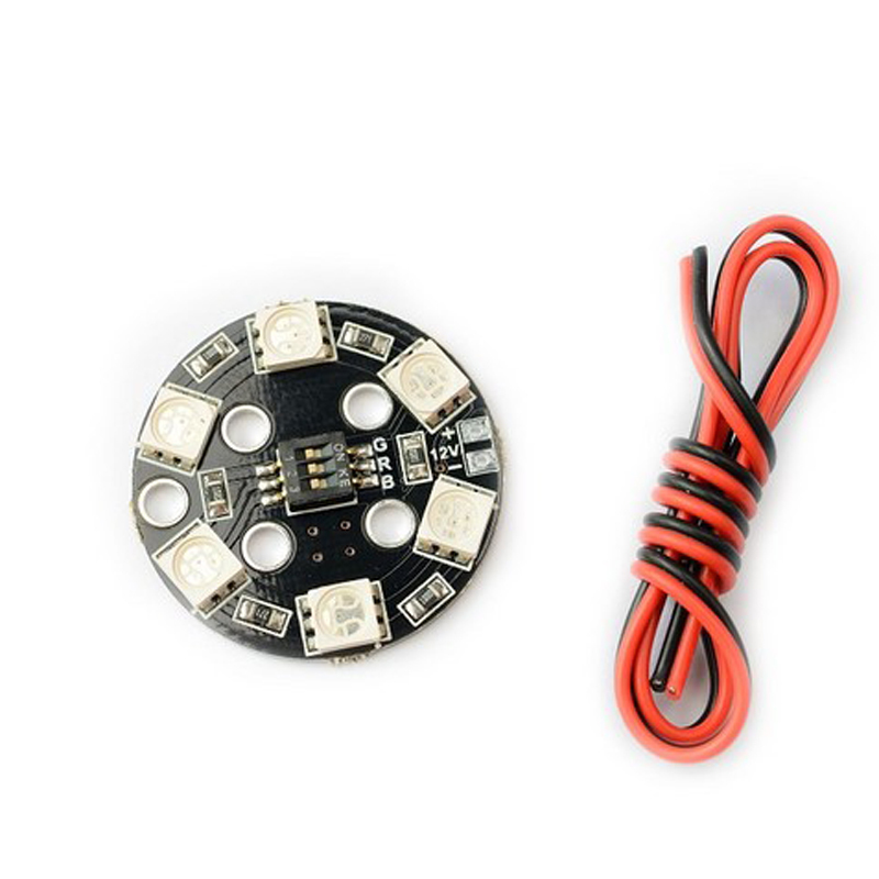Matek RGB LED Round Circle Board 5050 X6/12V for FPV RC Multicopter 1pcs lightweight matek rgb led circle board 7 colors x8 16v for fpv rc multicopter