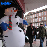 X080 3M Hight top quality inflatable yard Christmas decoration inflatable snowman for selling