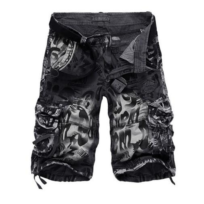 2019 New Design Men Summer Camouflage Military Cargo   Shorts   Bermuda Masculina Jeans Male Fashion Casual Baggy Denim   Shorts   29-42