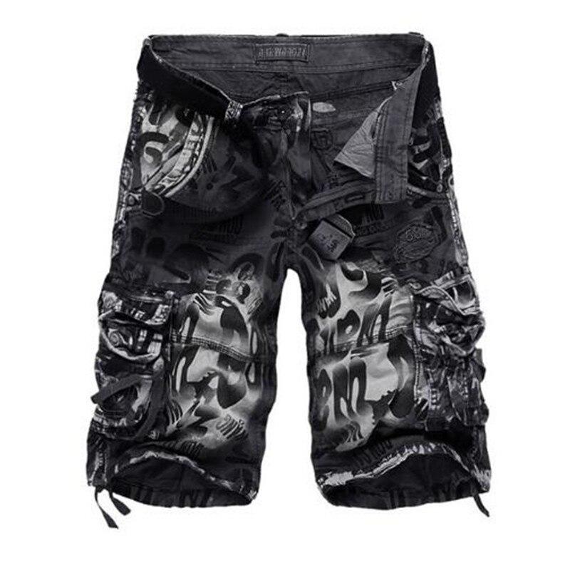 2019 Novo Design Homens Verão Camuflagem Shorts de Carga Militares Bermuda Jeans Masculina Masculino Moda Casual Baggy Shorts Jeans 29- 42