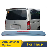 Rear Wing Spoiler For Toyota Hiace Rear Trunk Lid Car Spoilers Wing For Hiace Spoiler 2014 2017year ABS Plastic with LED lamp