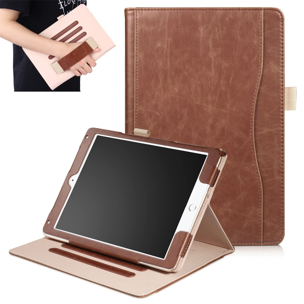 Genuine Leather Case For Apple New iPad 9.7 2017 & 2018 Luxury Stand Folio Flip Skin Magnetic Smart Cover Case for iPad Air 1 2 popular pattern pu leather case with card slots for apple ipad air 2 case folio stand protector skin for ipad air 2 cover 2017
