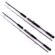 High quality 1 Pcs/Lot carbon material 1.8/2.1/2.4 m straight /shank handle sea/ pond/lake/river fishing rod