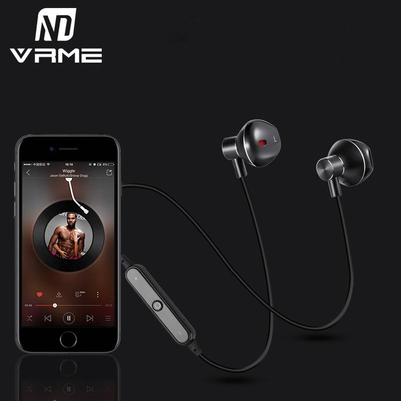 Vrme Headphone Wireless Bluetooth Earphone Bass Stereo Professional Sports Headset Waterproof with Microphone for iPhone Samsung выпрмитель волос philips hps930 00
