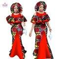 Африканские Платья для Женщин Рукавов Русалка Платья Макси Dress Бальные Платья Базен Riche Моды Африканский Одежды 6XL BRW WY1065