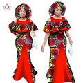 African Dresses for Women Sleeveless Mermaid Dresses Maxi Dress Party Dresses Bazin Riche Fashions African Clothe 6XL BRW WY1065
