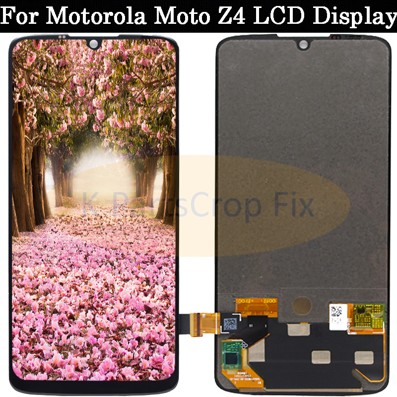 6 4 For Motorola Moto Z4 LCD Display Touch Screen Digitizer Assembly Replacement Screen For Moto
