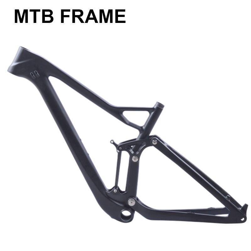 full twinloc suspension XC carbon mountain bike frame disc 29er mtb carbon 29er 27 5er plus