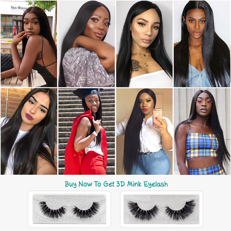 Image 5 - Ali Grace Brazilian Straight 13*4 Lace Frontal Medium Brown/ Transparent Lace Free/Middle Part Frontal 130% Destiny Remy Hair-in Closures from Hair Extensions & Wigs