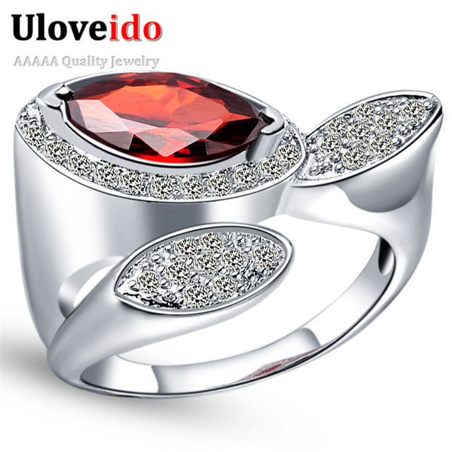 5 Off Uloveido Valentine S Day Ring Gift Rings With Stones Silver