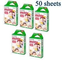 50 Sheets Fujifilm Fuji Instax Mini 8 film for Fujifilm Instant Mini 7s 25 50s 90 Camera Fuji Instax White Edge Photo Film Paper