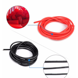 Image 4 - 5 メートル赤 + 5 メートル黒シリコンワイヤー 14AWG 耐熱ソフトシリコンシリカゲル電線の接続ケーブル RC モデルのバッテリー