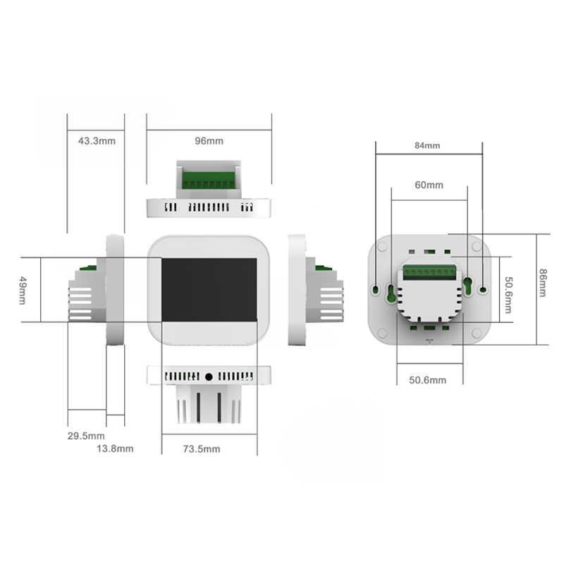Wifi touch termostat do ogrzewania wody/zawór chłodnicy przez angielski/niemiecki/polski/czeskich/włoski/Spainish sterowanie za pomocą smartfona