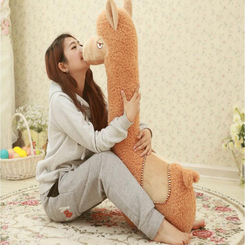 Soft cute Alpaca dolls large hay mats plush toys gift for birthday wrong for hay гаджет