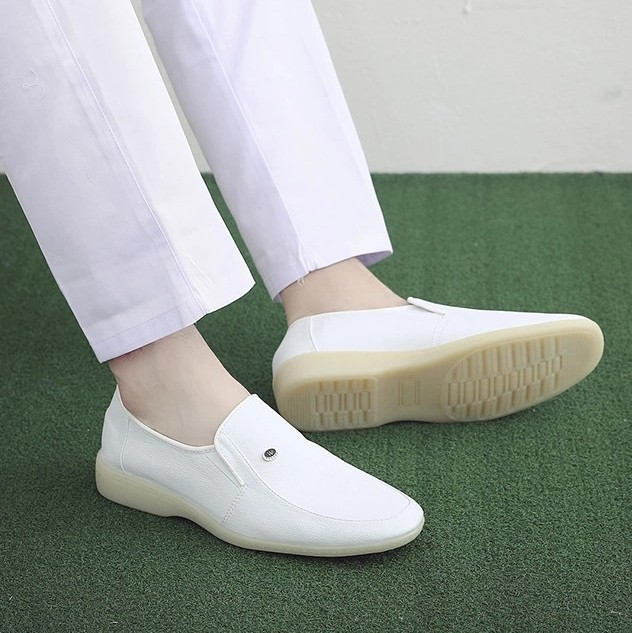 Spring White Shoes Men Doctor Medical Shoes  37-45 Flat Soft Sole