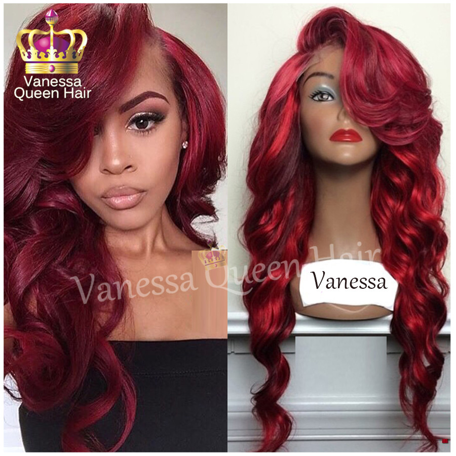 Mix wine red with bright red highlights synthetic lace front wig mix wine red with bright red highlights synthetic lace front wig body wave glueless synthetic heat resistant for balck women on aliexpress alibaba pmusecretfo Choice Image