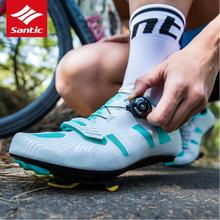 Santic  Women Cycling Road Shoes 2018 New Pro Road Bike Shoes Racing Cycling Athletic Racing Team Bicycle Shoes Breathable