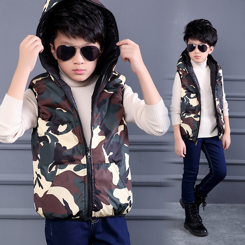 Children Vests 2017 New Arrival Baby Clothes Winter Camouflage Hooded Waistcoat Boys Casual Warm Outerwear Mode Enfant Fille 14