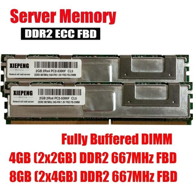 Server Memory 8GB DDR2 ECC PC2 5300F 16GB 667MHz FB DIMM 4GB Fully Buffered For MacPro31 MA356LL MA970LL MB451LL A1186 RAM In RAMs From Computer