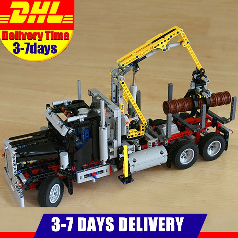 In Stock Lepin 20059 1338Pcs Technic Mechanical Series The Logging Truck Set Children Building Blocks Bricks Toys Model 9397