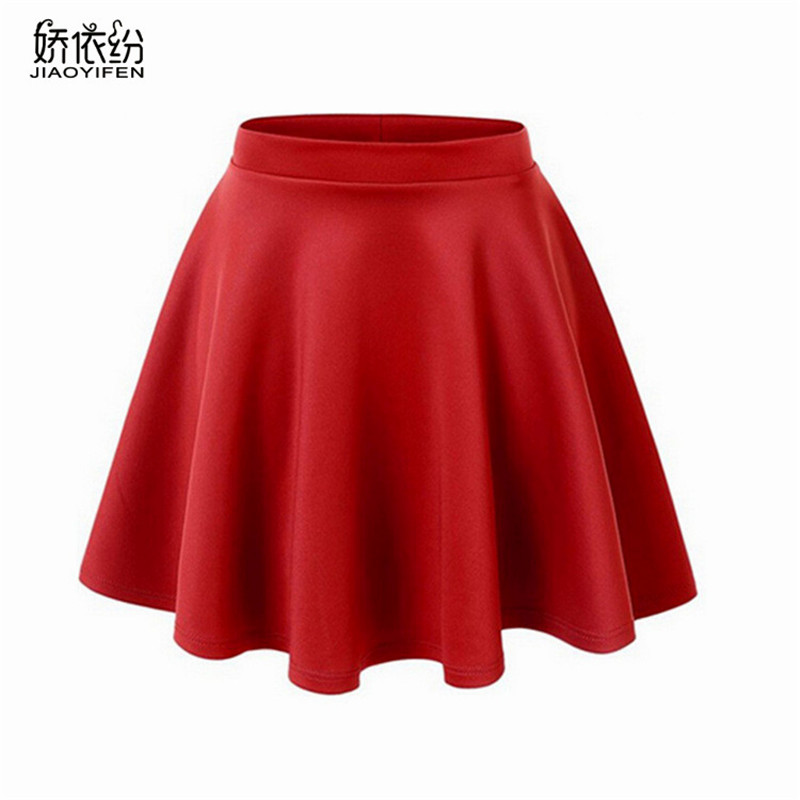 2017 New Summer Women's Style Korean Skirts Fashion Sexy Girl Mini Elastic Pleated Skirt for Female JYF Brand
