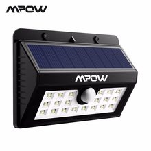 Mpow 20 LED MSL7 Solar Light Outdoor Motion Sensor Garden Wall Solar Powered Night lighting Weatherproof For Deck Camping Garage(China)