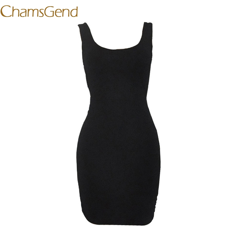 Chamsgend женская сексуальная без рукавов и спинки Тонкий пакет бедра фитнес вечерние Клубные обтягивающие платья 7830