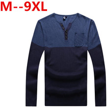 new 9XL 8XL 7XL6XL 5XL New Arrival v-Neck Wool Sweater Men Brand-Clothing Knitted Cashmere Pullover Men Slim Fit Bottoming shirt