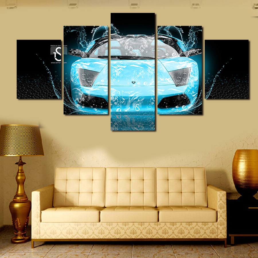 Abstract automobile painting painting wall decorative canvas print ...