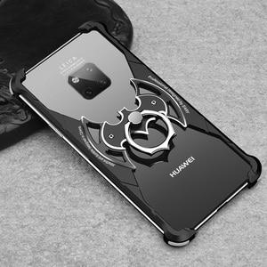 Image 5 - Металлический чехол OATSBASF в форме летучей мыши для Huawei p30, чехол 6,1 дюйма, индивидуальный металлический бампер с подушкой безопасности для Huawei P30 Pro 6,47 дюйма