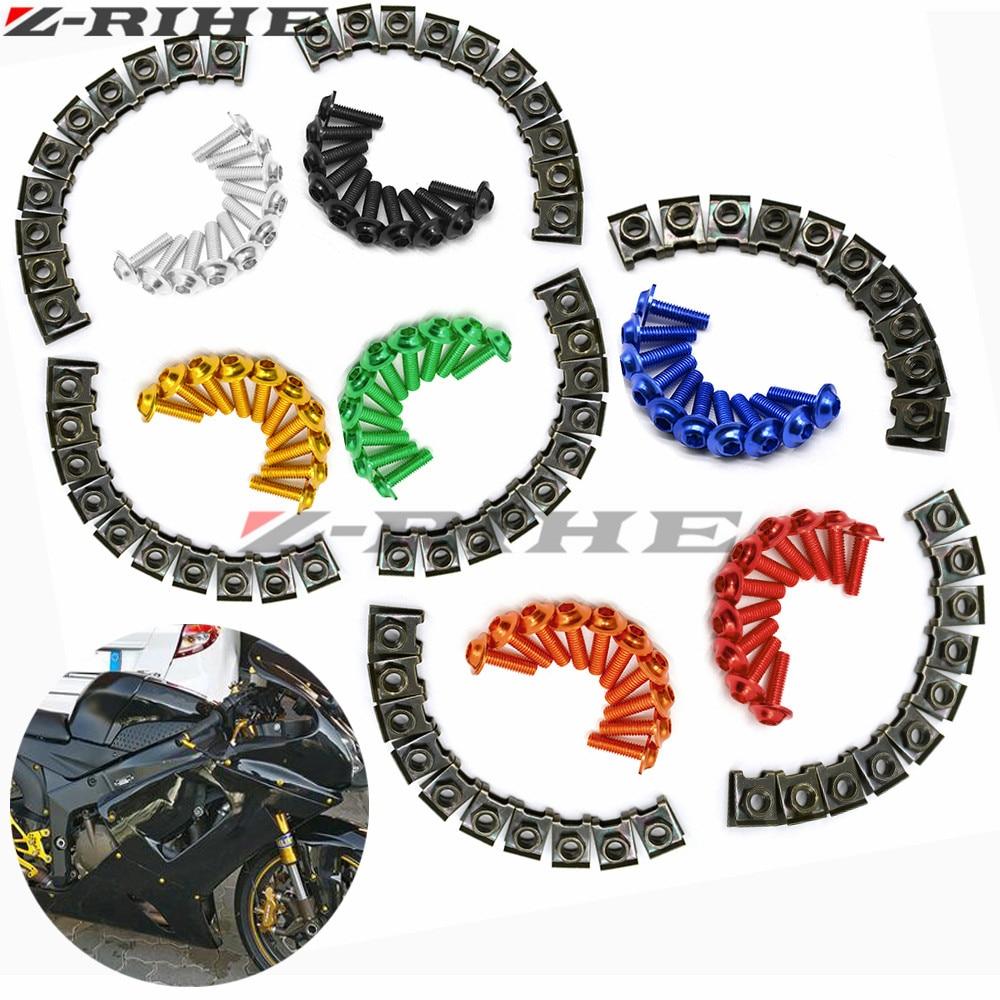 10 pcs motorcycle m6 fairing bolts screws for honda varadero transalp vtx 1300 vtx 1800 goldwing gl1800 cb600 bmw f800gs s1000rr in covers ornamental  [ 1000 x 1000 Pixel ]