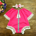2017 new baby Romper + Headband Retro Nation lace Jumpsuit Newborn Girls Baby Romper high quality cotton baby girls clothes