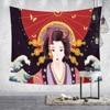 Japanese Tapestry Art Ukiyoshi Painting Ladies Geisha For Liquor House Sushi Shop Tatami Home Decorative Tapestry Wall Hanging 1