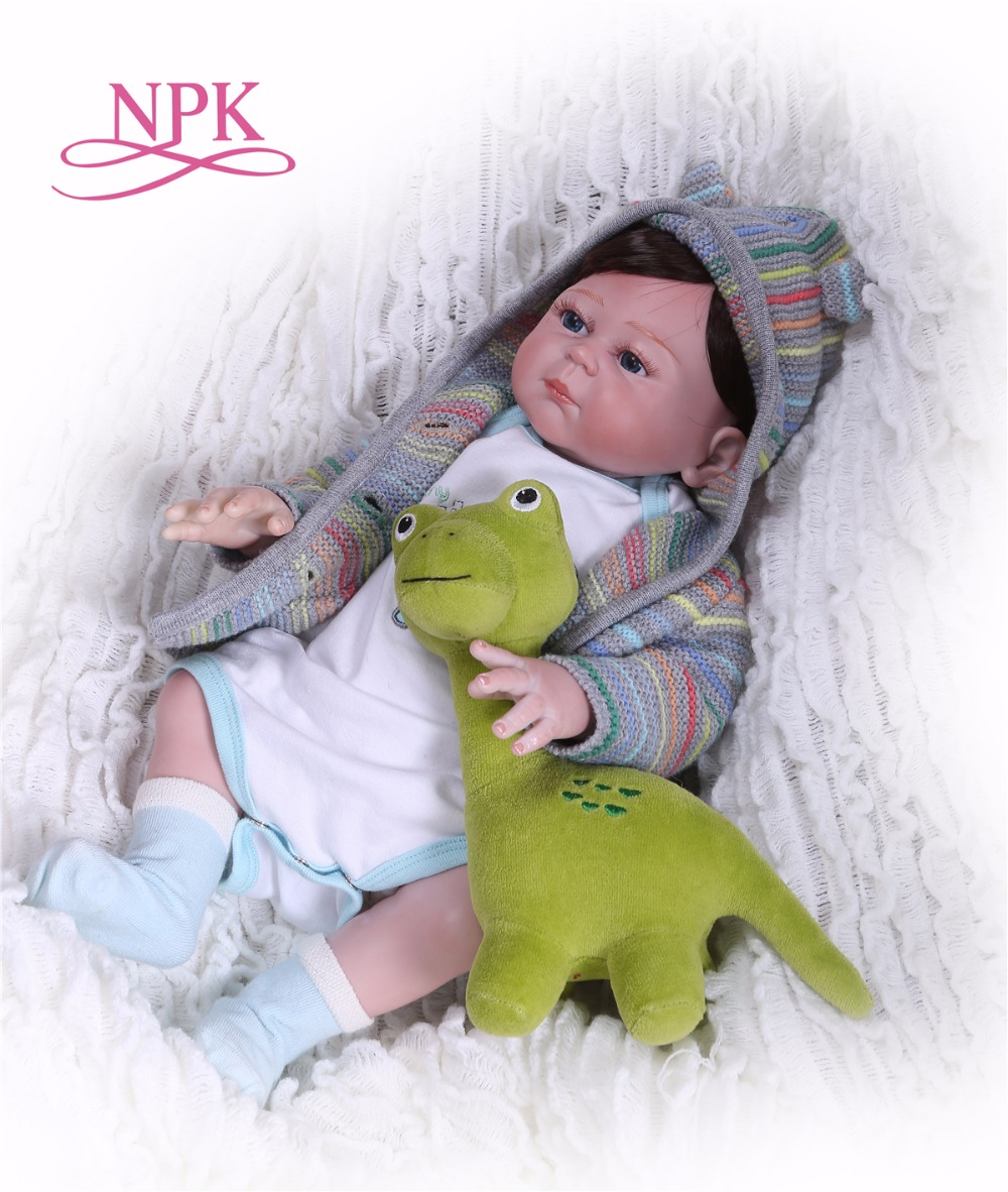 NPK 19 Inch  full body silicone Reborn Baby Doll Touch Real fashion gifts toys Baby Doll New Designed Xmas Gifts hot saleNPK 19 Inch  full body silicone Reborn Baby Doll Touch Real fashion gifts toys Baby Doll New Designed Xmas Gifts hot sale