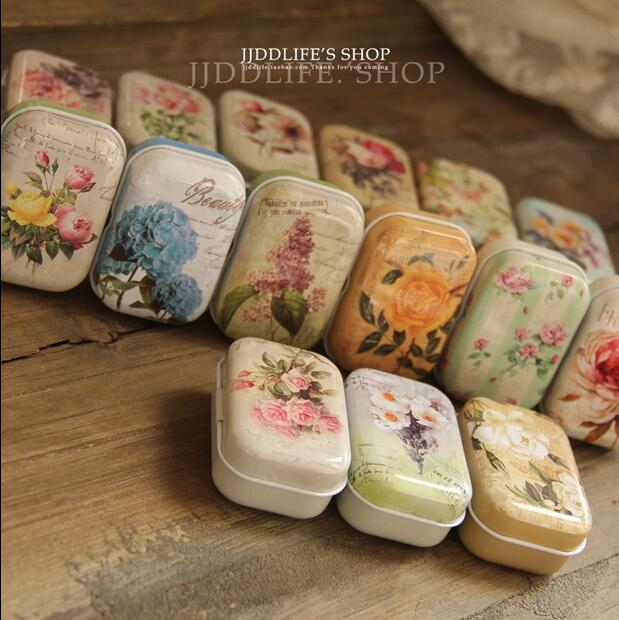 32 Piece/lot Vintage Style Mini Treasure Chest Storage Small Things Metal Tin Box 5.5*3.8*2.5cm Tea Candy Box Accessories