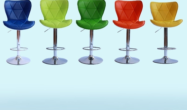 cafe chairs hotel lobby stool green red white black color wo