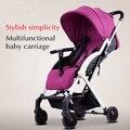 Pouch carrinho de bebê pode ser forrado com guarda-chuva carrinho de bebê dobrável portátil do trole das crianças