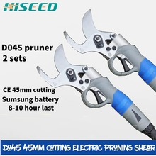 Two sets D045 Electric secateurs 45mm largest cutting professional electric pruning shear, sale,electric shears scissors